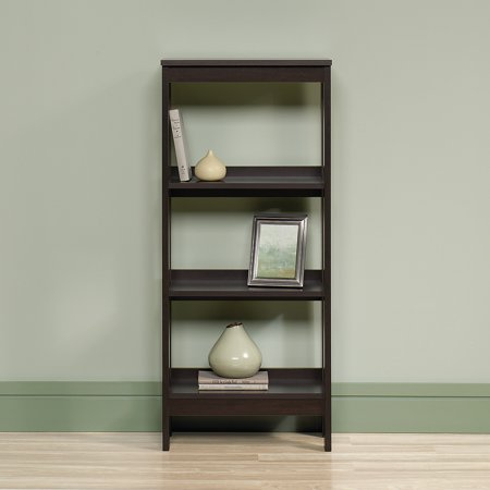 sauder beginnings 3 shelf bookcase cinnamon cherry finish. Black Bedroom Furniture Sets. Home Design Ideas