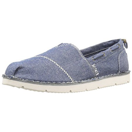 BOBS from Skechers Women's Chill Flex-New Groove Flat, Navy Groove, 6 M US