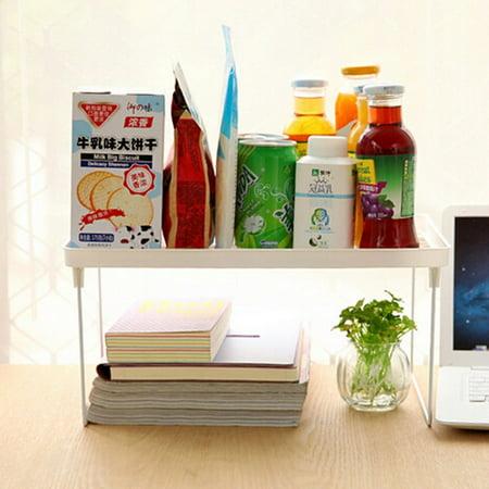 Foldable Storage Shelf Rack Kitchen Bathroom Holder Organizer Desk Bookshelf ,S color