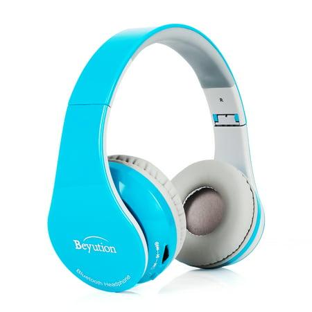 5469d3a165a Beyution V4.1 Bluetooth Headphones Wireless Foldable Hi-fi Stereo Headphone  with Micphone for Smart Phones & Tablets - Skyblue - Walmart.com