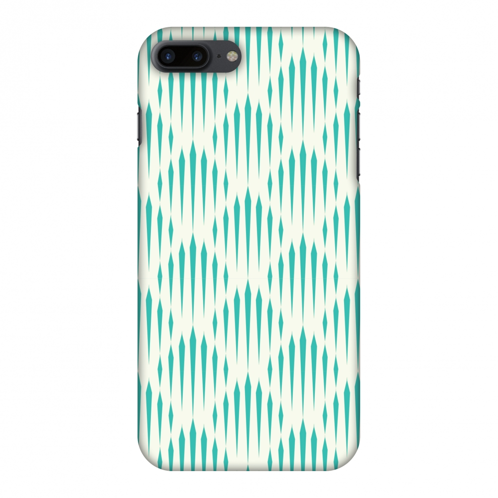 iPhone 7 Plus Case - Stripes 1, Hard Plastic Back Cover. Slim Profile Cute Printed Designer Snap on Case with Screen Cleaning Kit