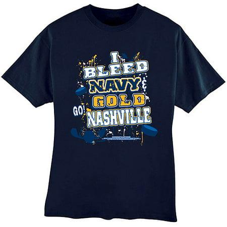 "Nashville Predators ""i Bleed Navy And Go"