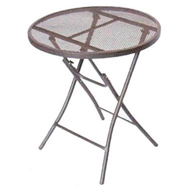 135087 Brown Steel Bistro Table