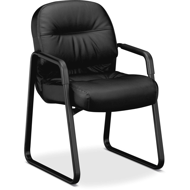 HON, HON2093SR11T, Pillow-Soft Guest Chair, Leather, 1 / Each