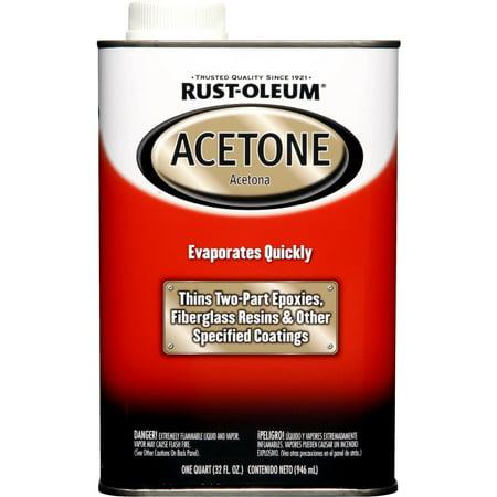 - Rust-Oleum Auto Acetone, 1 Quart