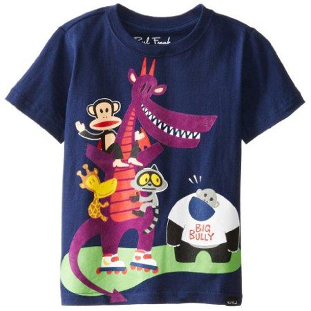 Paul Frank Little Boy's Kids Julius & Friends Big Bully Short Sleeve T-Shirt, Navy](Big Frank)
