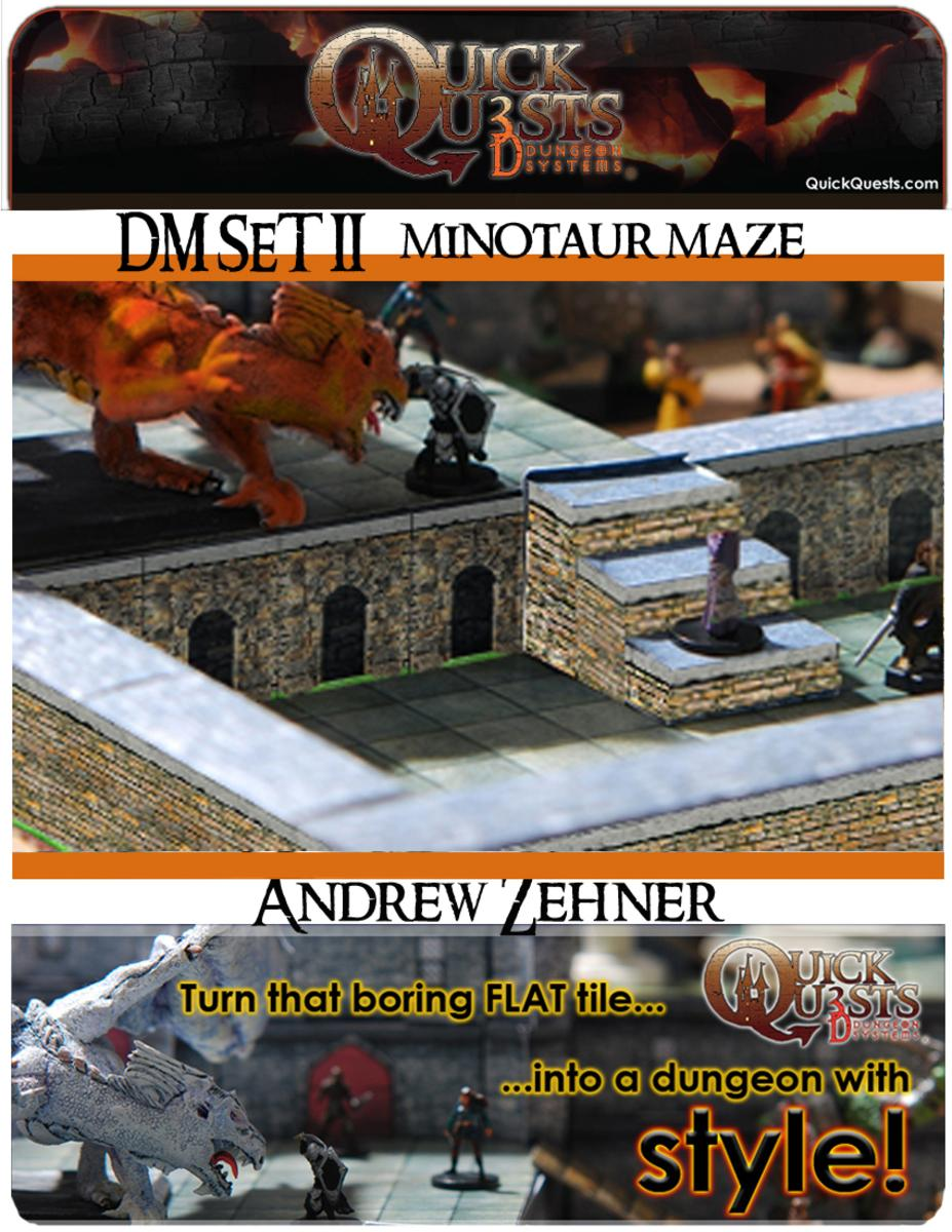picture relating to Dungeons and Dragons Tiles Printable identified as Printable 3D dungeon Tiles Minotaur Maze preset for Dungeons and Dragons, DD, Gurps, Warhammer or other RPG - book