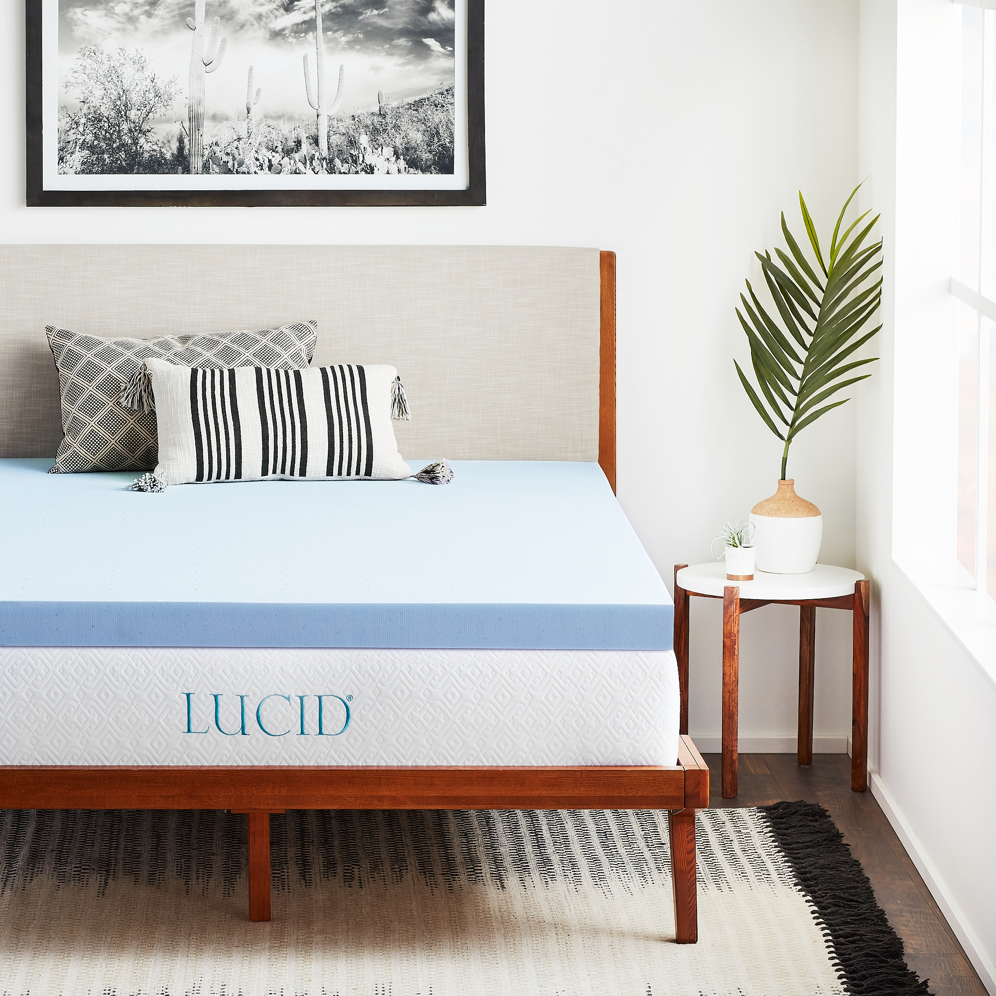 "Lucid 3"" Plush Gel Infused Memory Foam Mattress Topper"