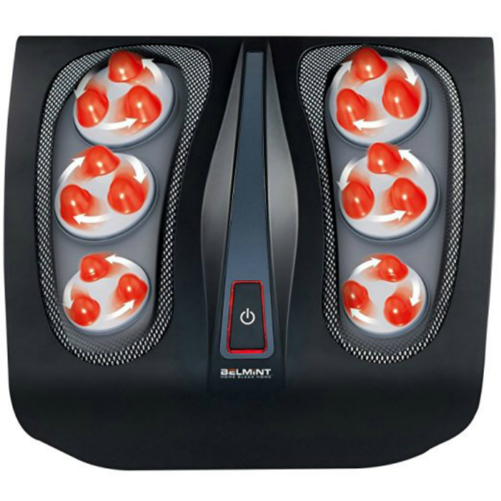 Belmint 18-Node Deep-Kneading Shiatsu Foot Massager with Switchable Heat Function & Easy-to-Use Toe Control