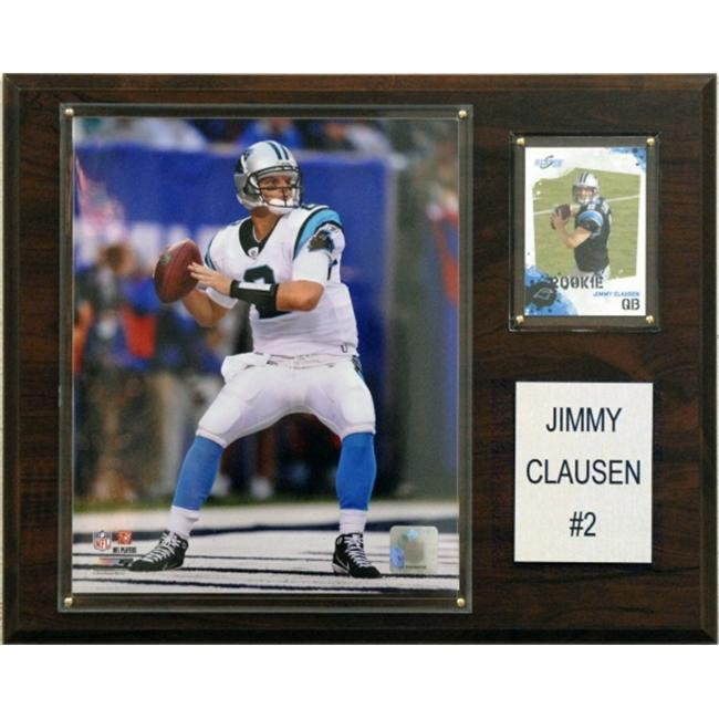 C & I Collectables 1215CLAUSEN NFL Carolina Panthers Player Plaque