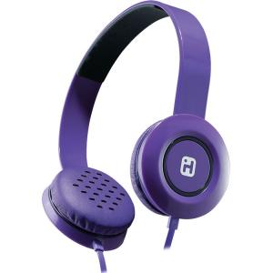 iHome iB35 Stereo Headphones with Flat Cable - Purple