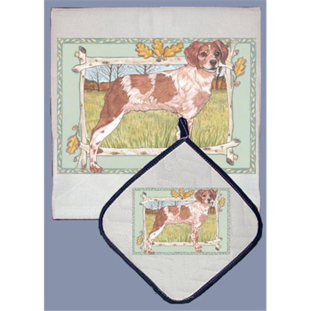 Pipsqueak Productions DP999 Dish Towel and Pot Holder Set - Brittany