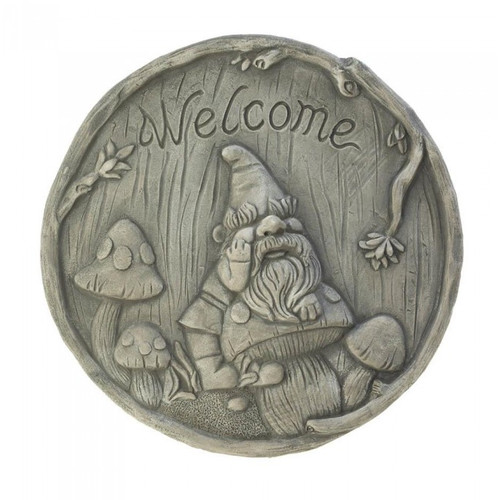 Welcome Gnome Stepping Stone by