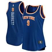 RJ Barrett New York Knicks Fanatics Branded Women's 2019/20 Fast Break Team Tank Jersey - Icon Edition - Blue