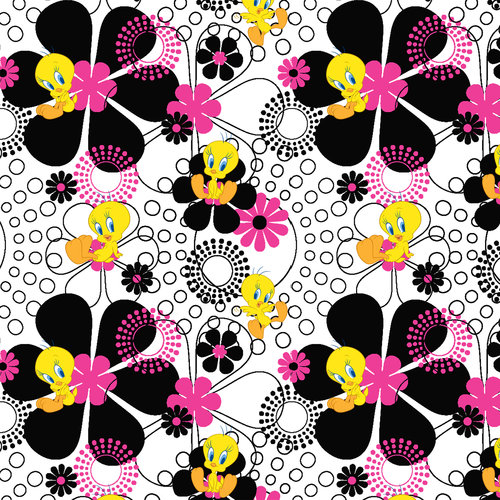 V.I.P by Cranston Tweety Graphic Fabric, per Yard
