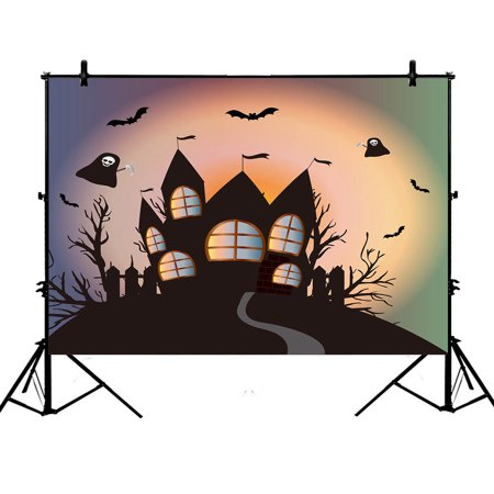 YKCG 7x5ft Happy Halloween Funny Ghost Fantasy Castle Black Tree Photography Backdrops Polyester Photography Props Studio Photo Booth Props](Funny Halloween Photo Editing)