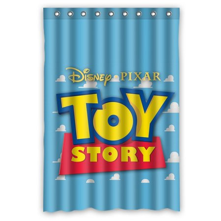 DEYOU Toy Story Cartoon Design Shower Curtain Polyester Fabric Bathroom Size 48x72 Inches