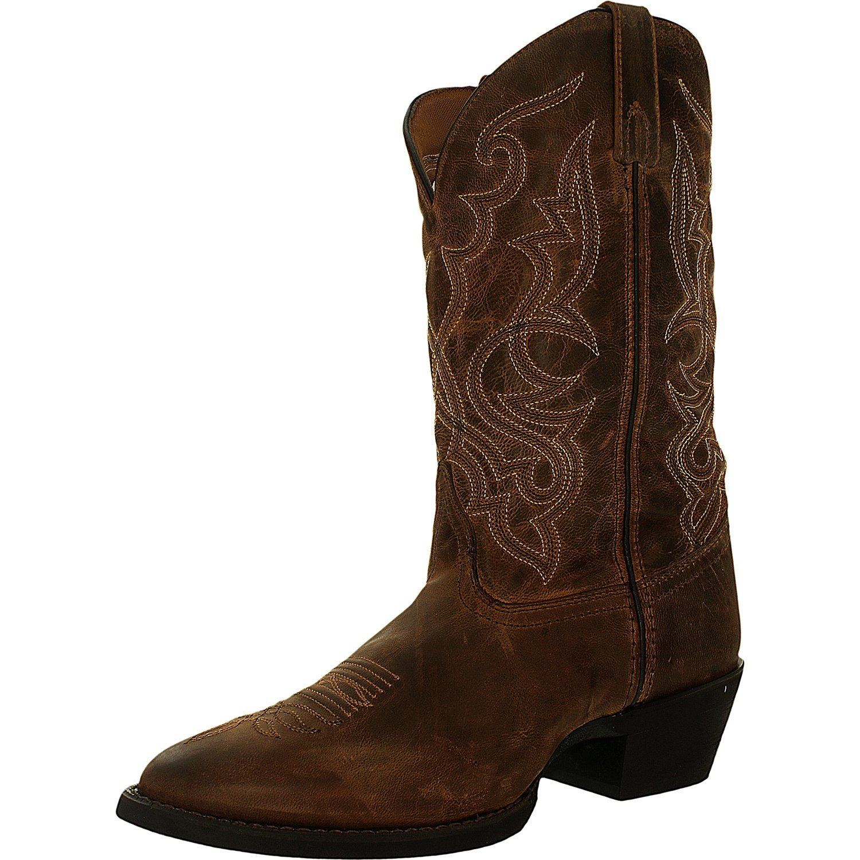 Laredo Men's Lad 11 Distressed Toe Mid-Calf Leather Boot by Laredo