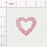Expo Int'l Peel-N-Glitz Heart Applique - Fuchsia