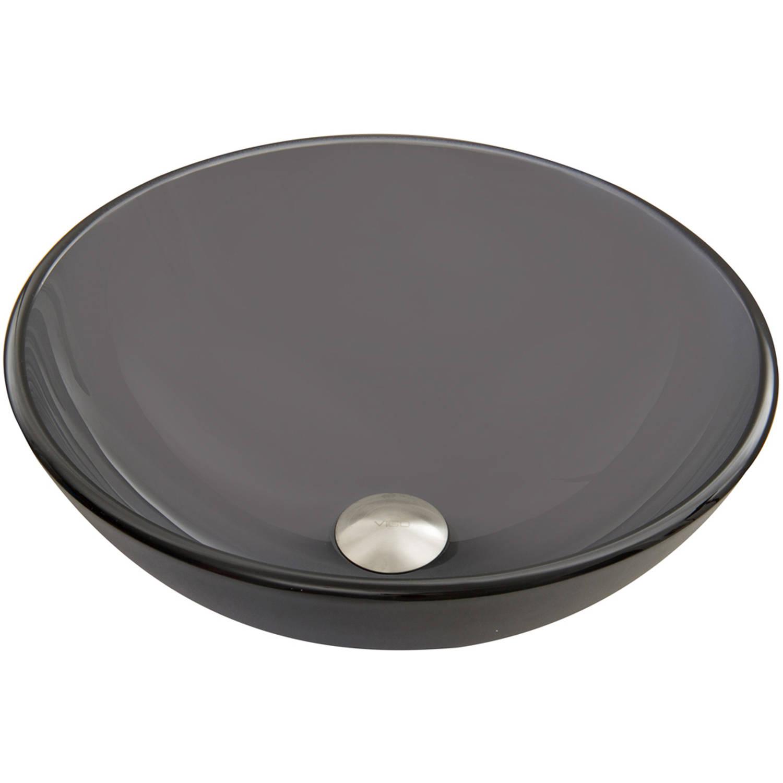 VIGO Sheer Black Frost Glass Vessel Sink