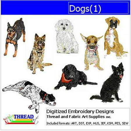 - ThreadArt Machine Embroidery Designs Dogs Version 1 CD