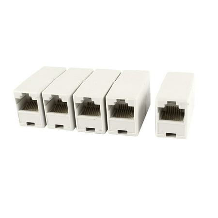 Unique Bargains 5 Pieces RJ45 Female to Female Couplers 8C CAT5e Ethernet Network Inline (Cat5e Modular Coupler)
