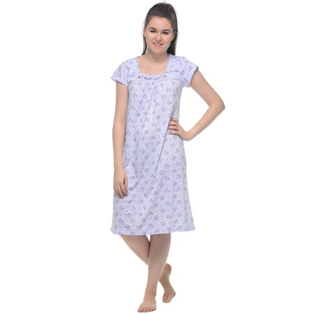Casual Nights Women's Cap Sleeveless Floral Lace Night Gown - Nightshirt And Cap