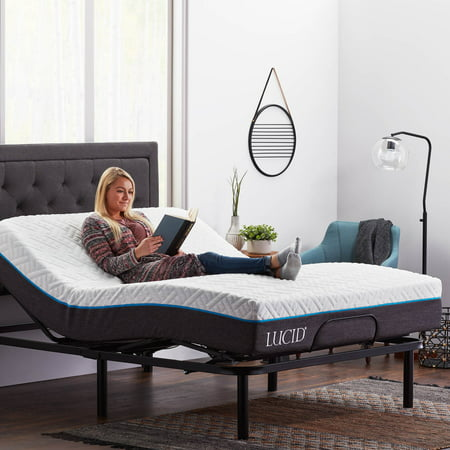 Lucid Basic Remote Controlled Adjustable Bed Base - Heavy Duty
