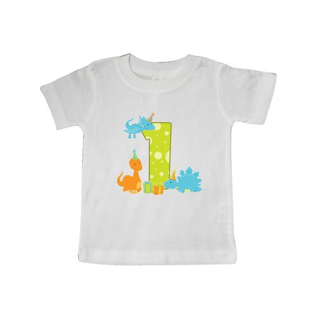 Dinosaur First Birthday Party Baby T Shirt