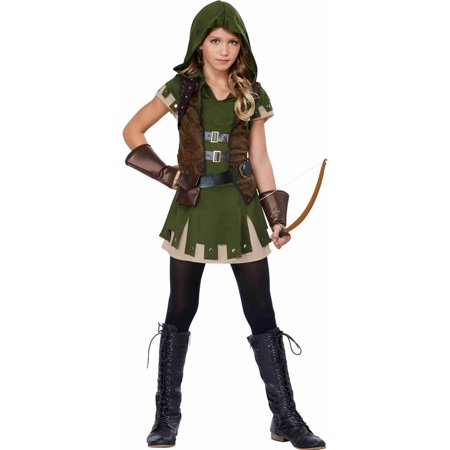 Tween Miss Robin Hood Costume (Tween Hooded Huntress Costume)