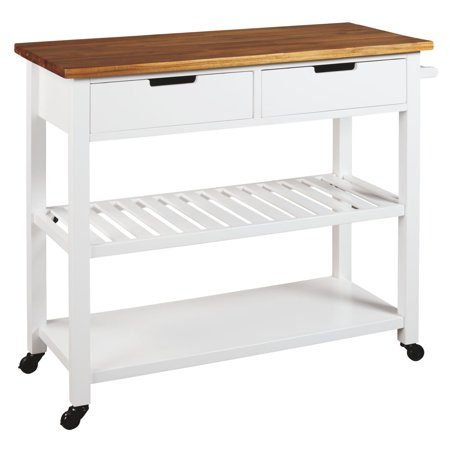 Signature Design by Ashley Withurst White Kitchen Cart