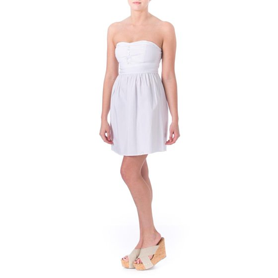 a242cfe54b328 Be Bop - Be Bop Womens Juniors Strapless A-Line Casual Dress ...