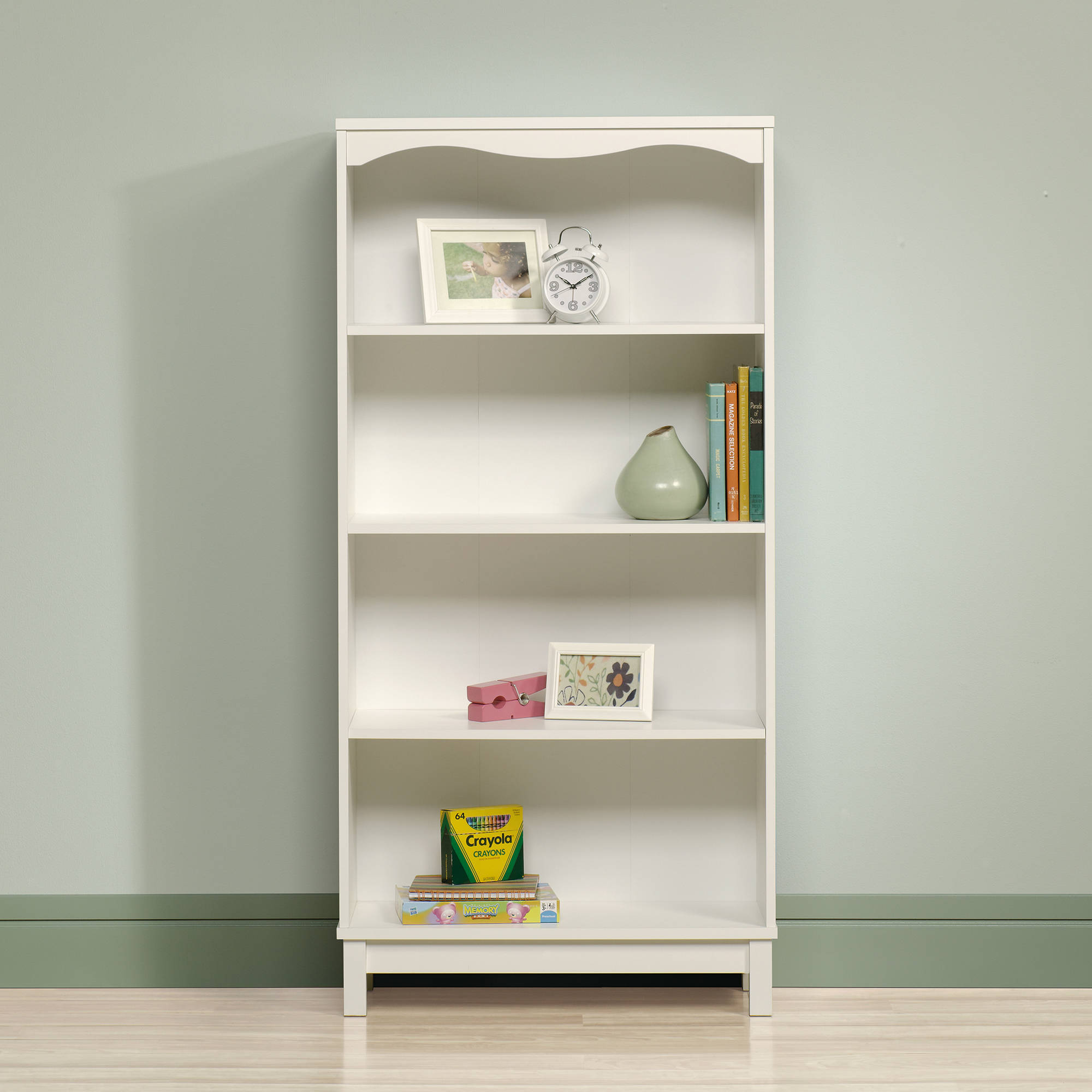 Sauder Storybook Kids Bookcase Soft White Finish