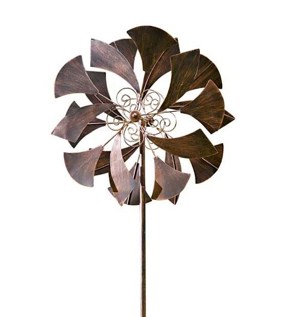 Wind & Weather Ginkgo Leaf Metal Wind Spinner for Gardens by Wind Spinners