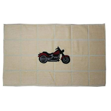 Patch Magic Motorcycle Bath Mat