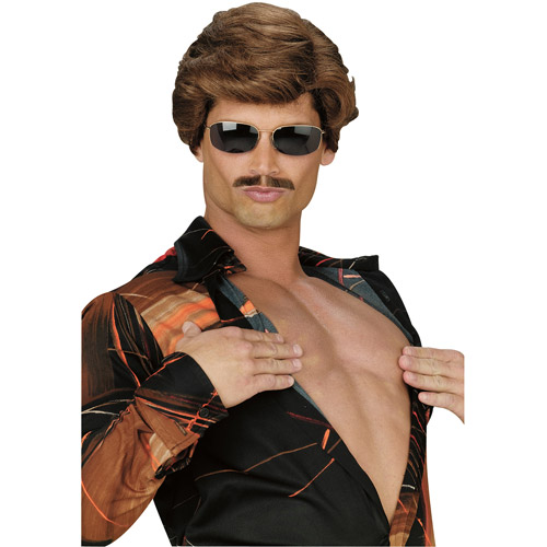 Leading Man Brown Wig Adult Halloween Accessory
