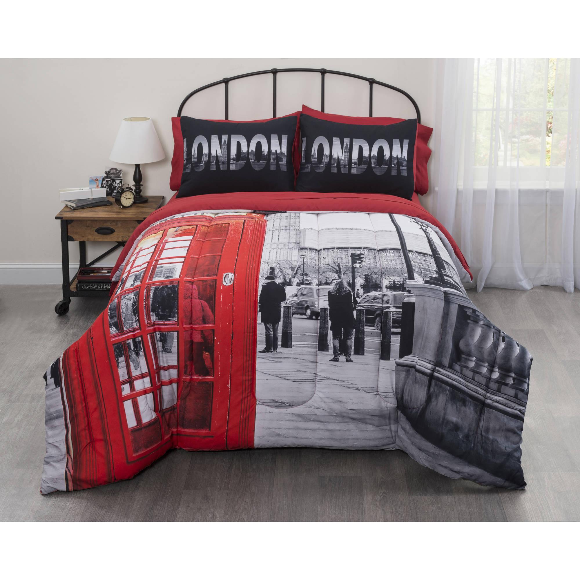 Big Ben Photobooth London Bed-In-A-Bag Comforter Set