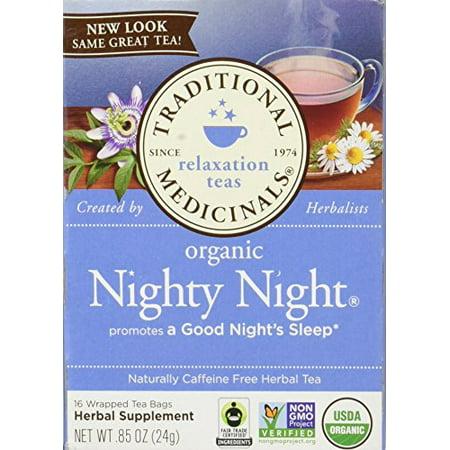 Traditional Medicinals Organic Nighty Night Tea, Caffeine Free, 16 (Nighty Night Tea Bags)
