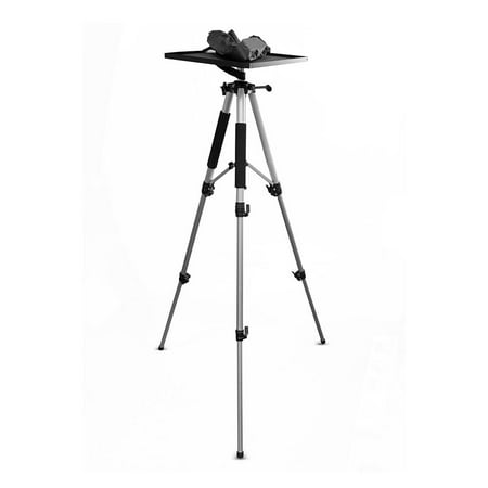 PYLE PRJTPS37 - Video Projector Mount Stand, Adjustable Height, Swivel/Rotating Plate, Tripod Style ()