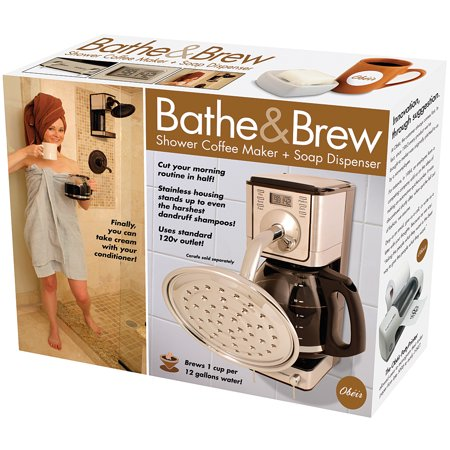 novelty prank gift box bathe brew coffee maker showerhead soap