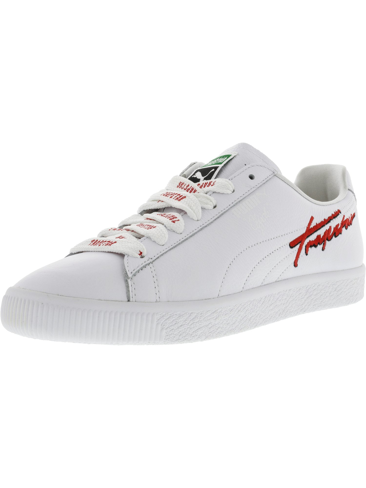 Puma Men's X Trapstar Clyde White Ankle-High Leather Fashion Sneaker 9.5M by Puma