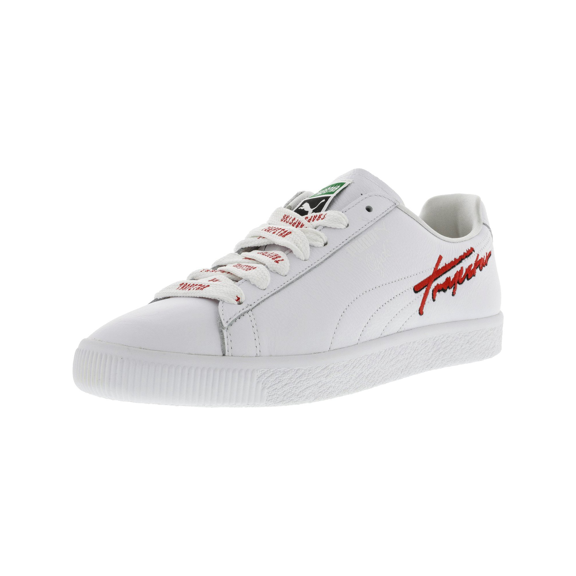 Puma Men s X Trapstar Clyde White Ankle-High Leather Fashion Sneaker - 9.5M   a48600fb4