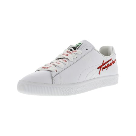 Puma Men's X Trapstar Clyde White Ankle-High Leather Fashion Sneaker - 9.5M