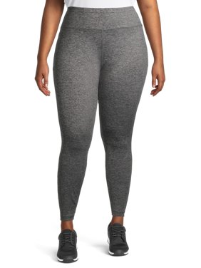 Avia Women's Plus Size High Waisted Moisture Wicking Leggings with Phone Pocket
