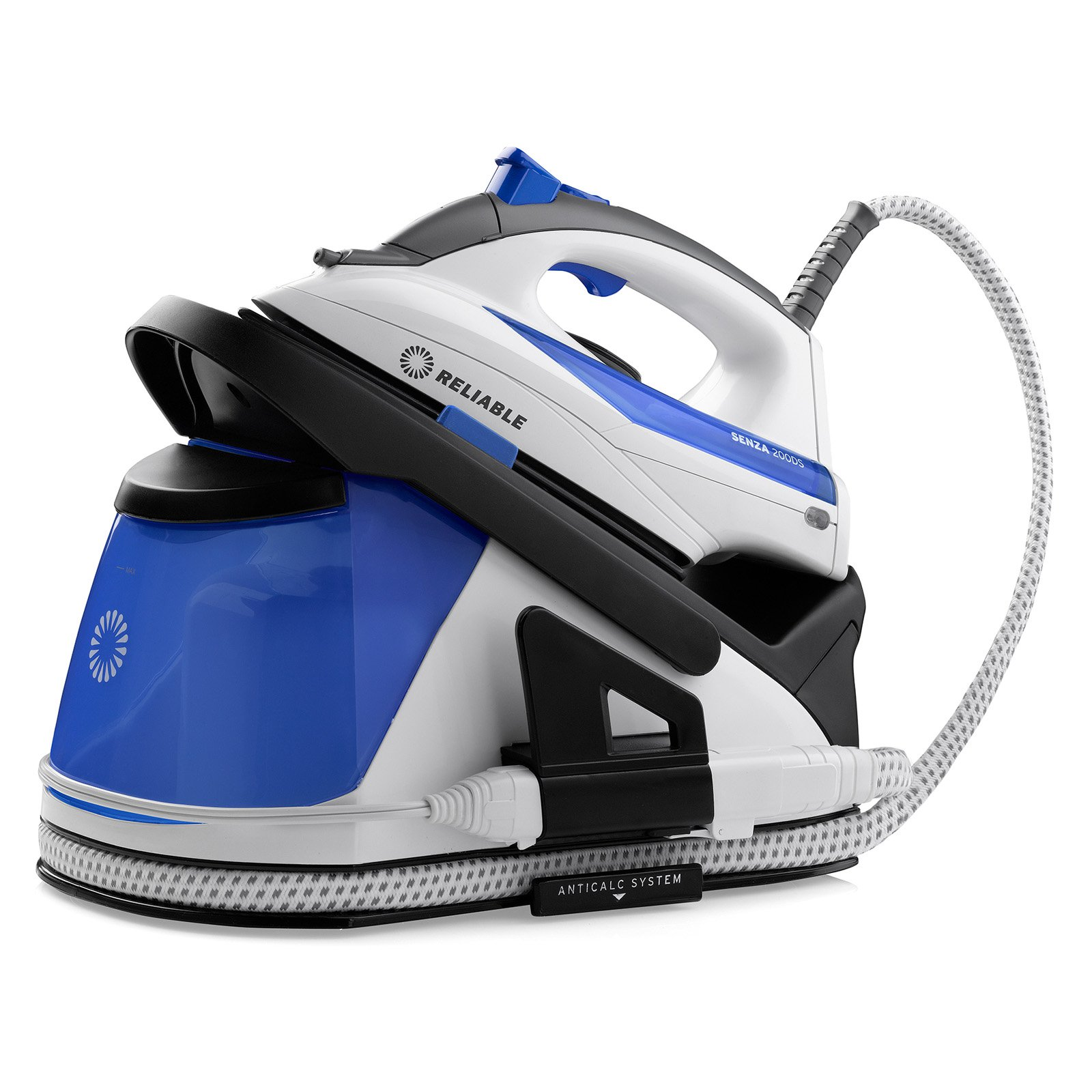 Reliable Senza Dual Performance Home Steam Ironing Station, White and Blue, 200DS