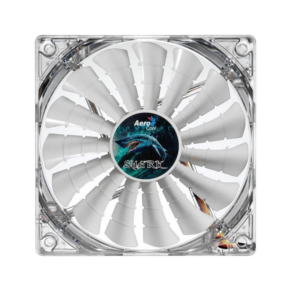 Computer Cooling Fan, Aerocool Shark 120mm White Cooling Pc Case Fan, En55505