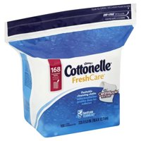 168 Count Cottonelle Fresh Care Flushable Moist Wipes