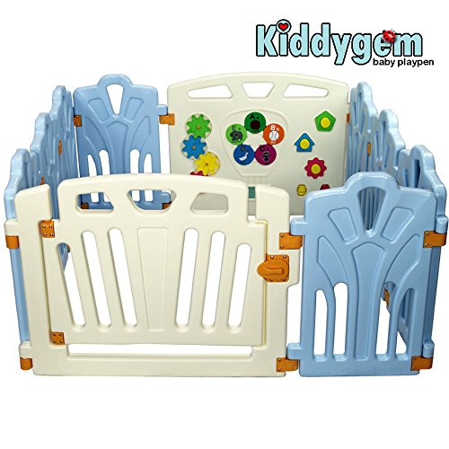 Kiddygem baby playpen - Puzzle and Beep (Blue)