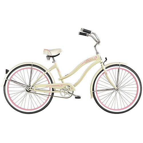 "26"" Micargi Rover GX Women's Beach Cruiser Bike, Vanilla"