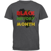 Black History Month Africa Distressed Mens T Shirt Dark Heather SM